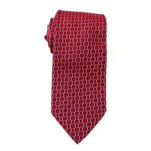 Ermenegildo Zegna Men's Red 100% Silk Tie Italy